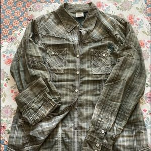 Women's Harley Davidson snap front  top size XL